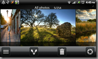 Android's Gallery application and toolbar