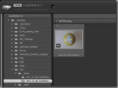 Lightroom 3 Import dialog with missing 3GP video