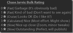 Lightroom Panel End Mark Summarising Bulk Edit Process